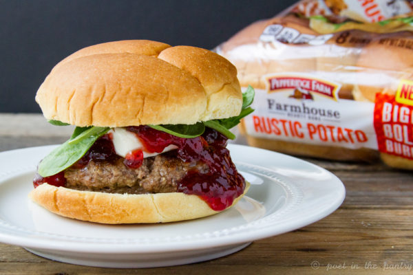 Strawberry Jam Cheeseburgers are an unexpected treat, made better with Pepperidge Farm Farmhouse Hearty Buns {sponsored post}