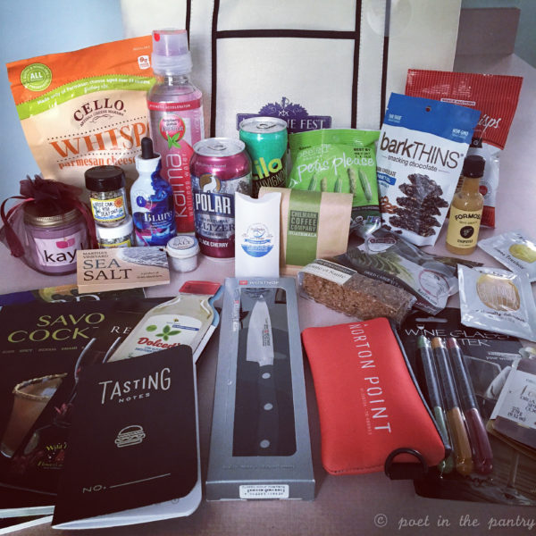The VIP Swag Bag at the MV Wine Fest was quite the catch! Look at all those cool products! {sponsored post}
