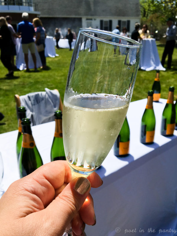 Who doesn't love drinking champagne while judging a burger cookoff? {sponsored post}