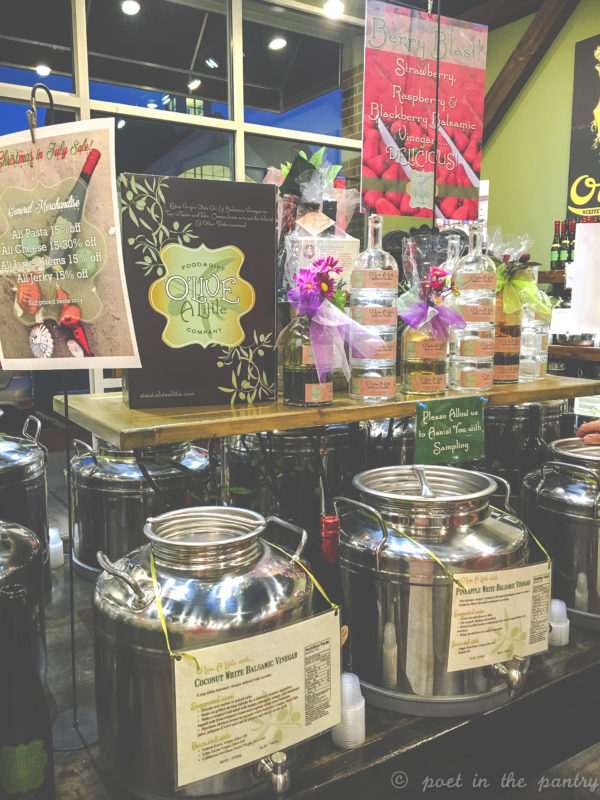 O'Live A Little is a fun culinary shop for the food lover! Sample their various olive oils and vinegars, shop their cheese selection, sweeten your life with their honeys, or put together a great housewarming gift. They have it all! {sponsored post}