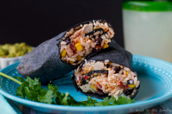 Chicken, Black Bean and Corn Burritos are a fast weeknight meal or anytime snack. {sponsored post}