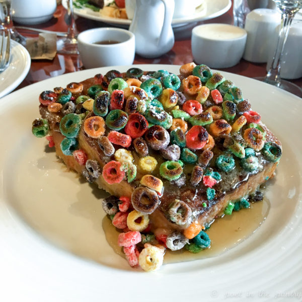 froot loops french toast on the Carnival Elation