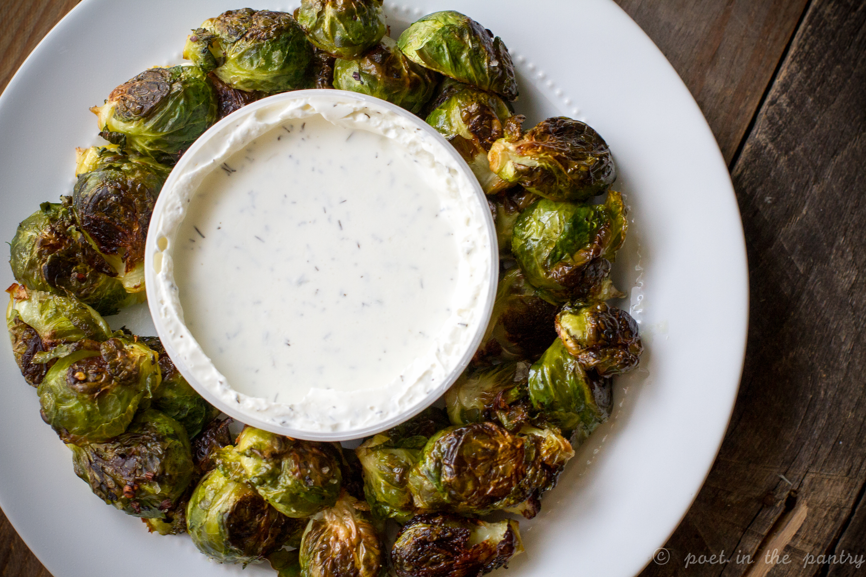 AD: Spicy Brussels Sprouts with Tzatziki