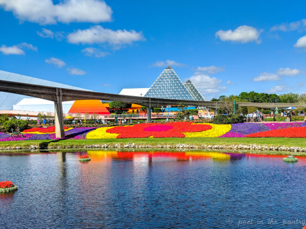 Epcot in full bloom at the 25th Annual International Flower & Garden Festival