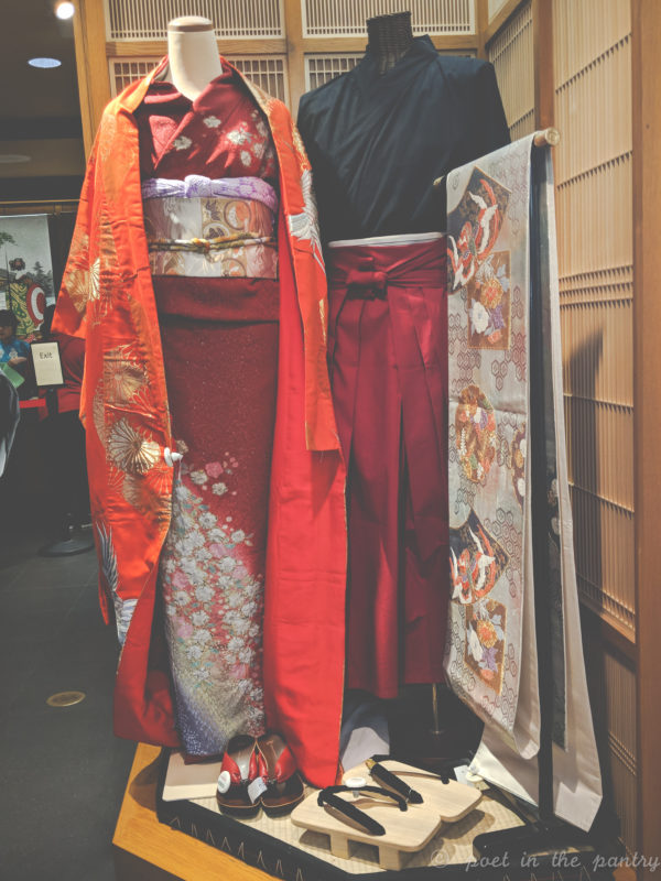 kimono in the Japan pavilion shop, Epcot, Walt Disney World