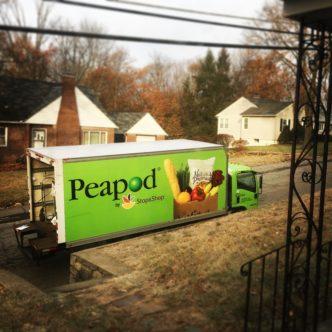 Peapod delivery truck