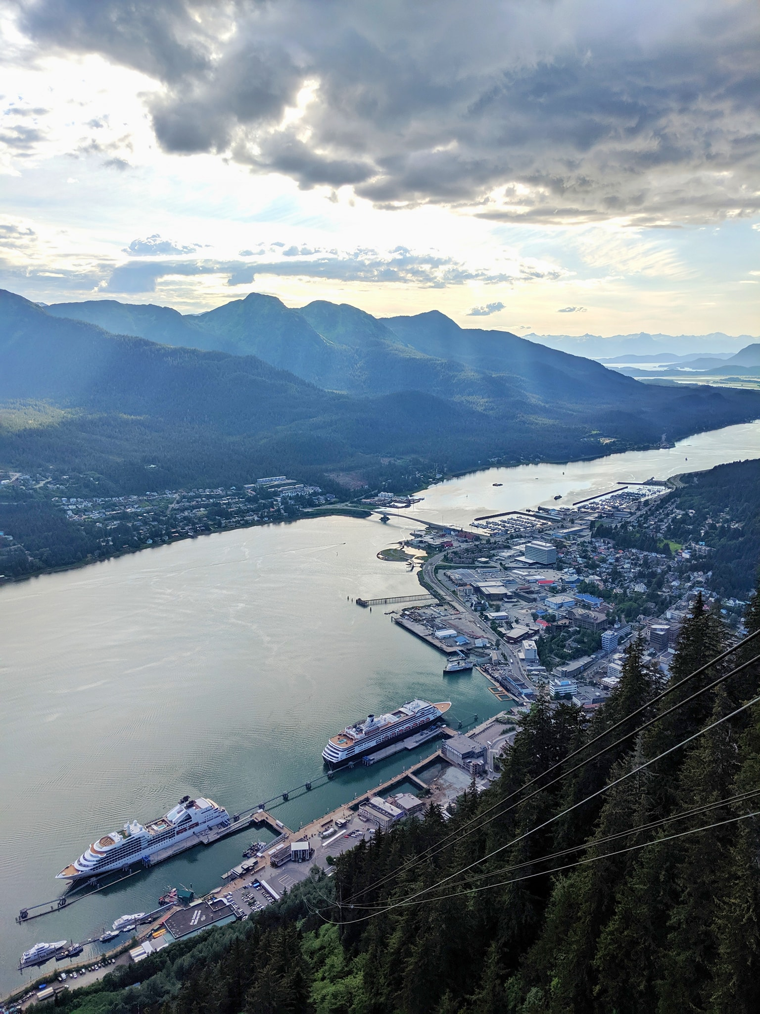 Gastineau Channel as viewed from Mount Roberts Tramway, Juneau, Alaska