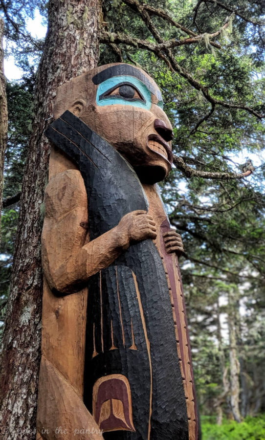 A totem at the top of Mount Roberts, Juneau, Alaska
