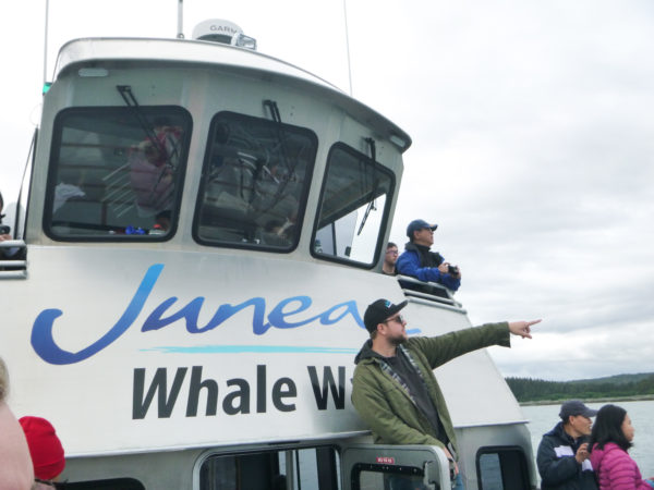 Juneau Tours & Whale Watch boat - Kris, the naturalist