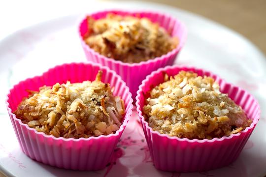 Coconut & Banana + Cream Muffins