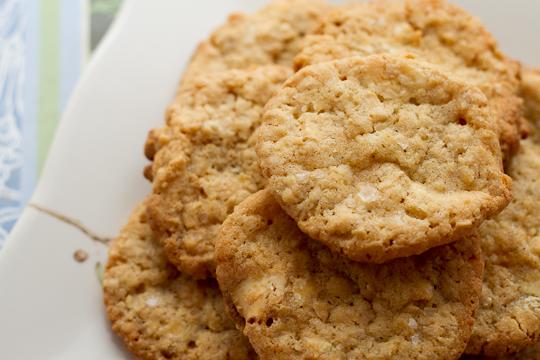 Crisp Salted Oatmeal Cookies