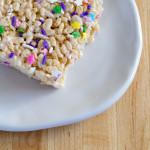 Cake Batter Rice Crispy Treats