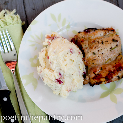 Cilantro Chicken and Refrigerator Mashed Potatoes