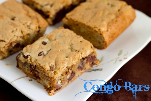 Congo Bars on a plate