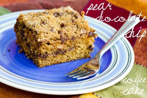 pear chocolate chip coffee cake
