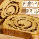 Pumpkin Bread with Cinnamon Walnut Swirl