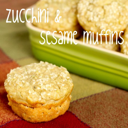 zucchini and sesame seed muffins