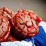 chocolate brownie muffins