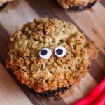 Pear and Raisin Allspice Crumb Muffins