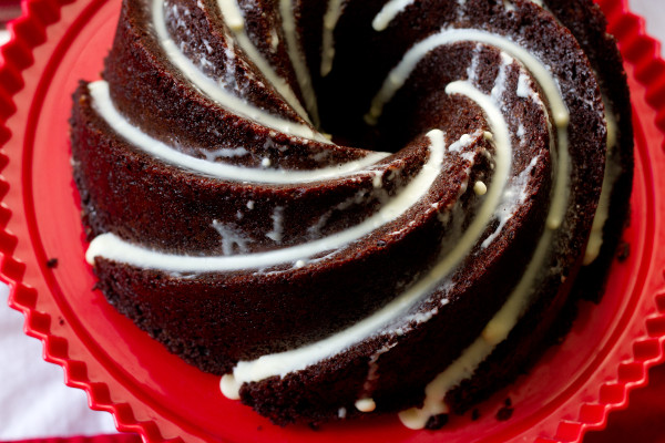 Chocolate Chobani Bundt Cake