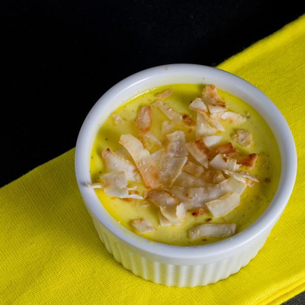 vanilla pots de crème with lime tequila sauce