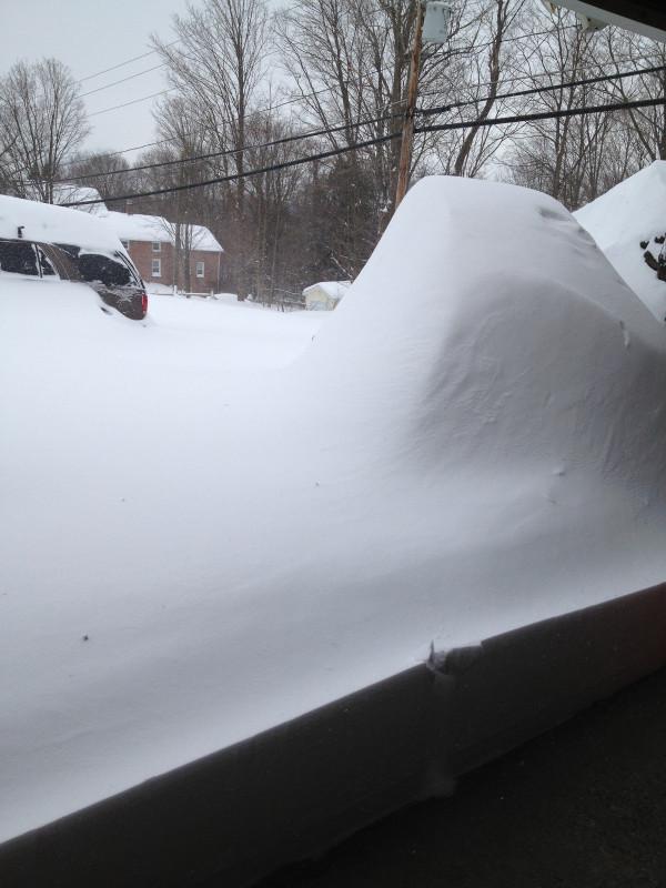 snowed in driveway
