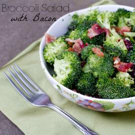 Broccoli Salad with Bacon - poetinthepantry.com