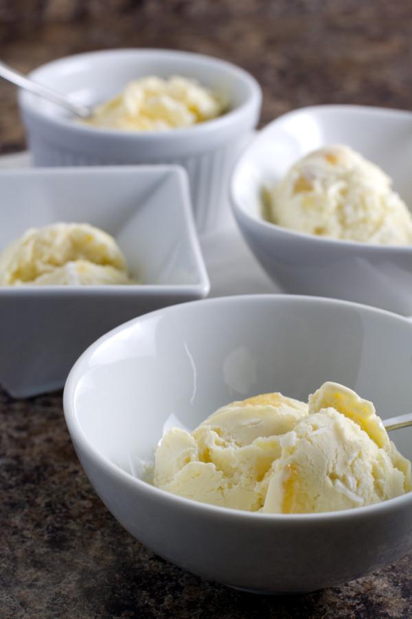 roasted pineapple coconut ice cream
