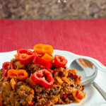 Bacon Chili with Peppers - poet in the pantry