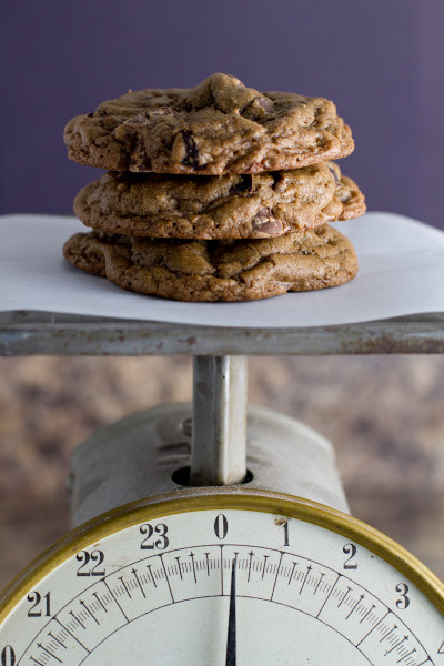Double Chocolate Cookies with Dried Cranberries