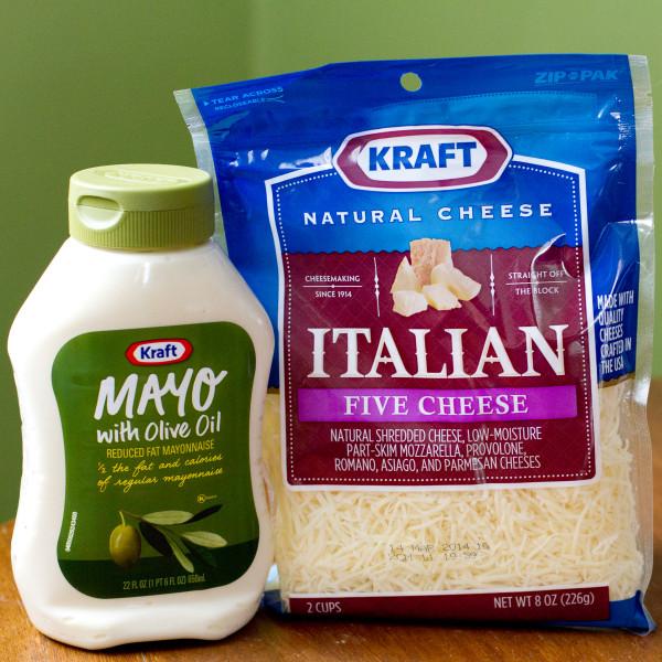 Kraft Mayo and Italian Shredded Cheese