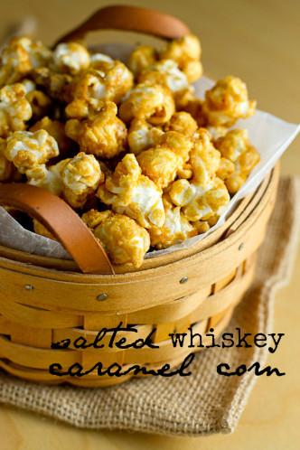 Salted Whiskey Caramel Corn