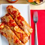 no-fry chicken parmesan enchiladas