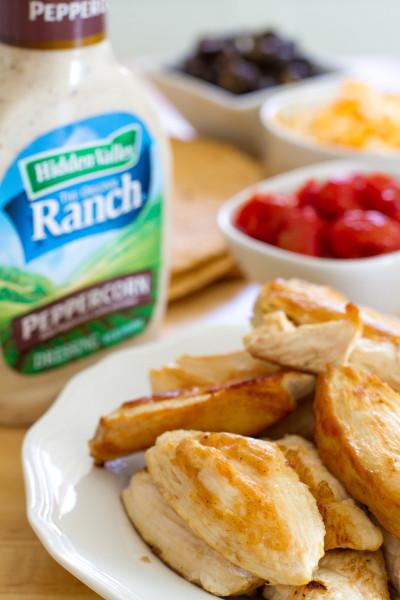 Cracked Peppercorn Ranch Chicken Wraps