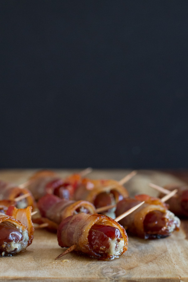 Bacon Wrapped Dates Stuffed with Blue Cheese - poet in the pantry