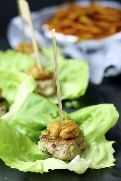 Thai Turkey Sliders with Peanut Sauce from The Healthy Maven