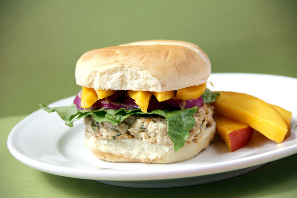 Caribbean Mango Chicken Burgers - Snappy Gourmet