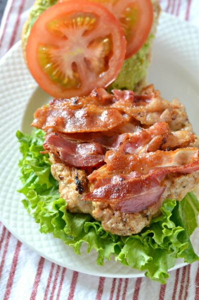 Grilled Chicken BLT Burger from Courtney's Sweets