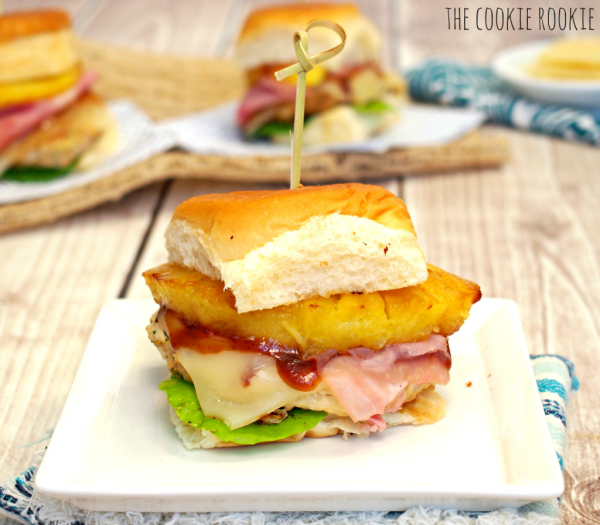 Hawaiian Chicken Burger - The Cookie Rookie