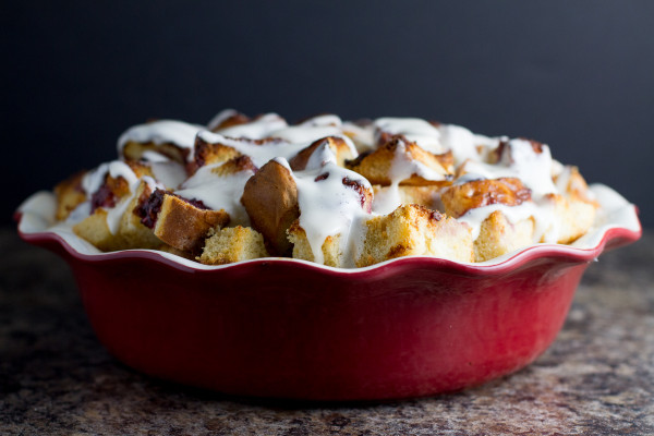 Chocolate Raspberry Bread Pudding - Poet in the Pantry