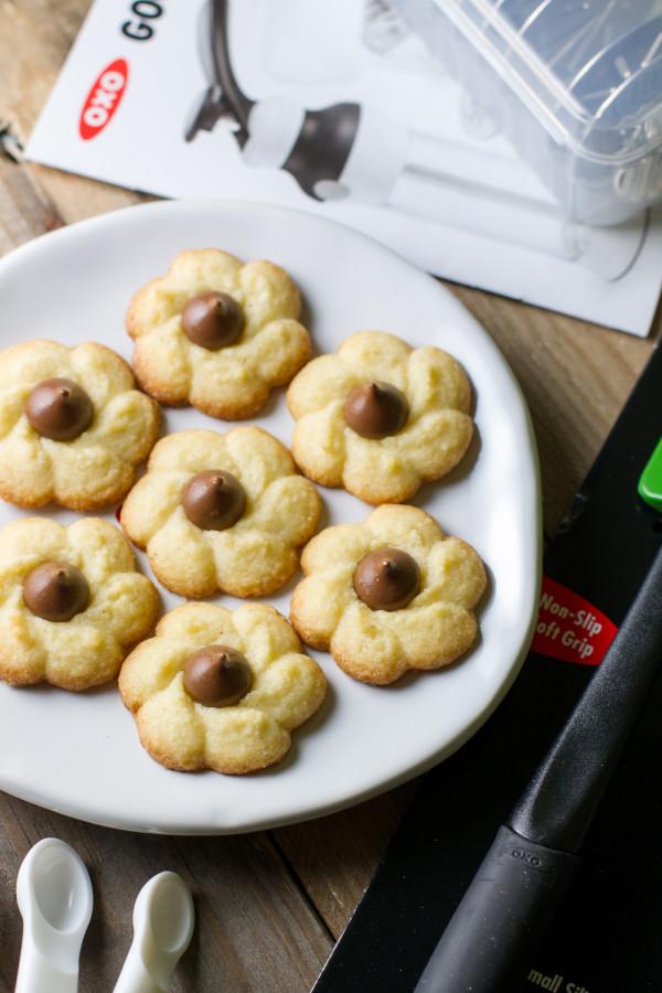Coconut Kiss Spritz Cookies - Poet in the Pantry