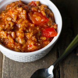 Sausage Stuffed Pepper Stoup - Poet in the Pantry