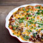 Tex-Mex Lasagna featuring Sabra Southwestern Style Salsa - Poet in the Pantry - #sabratastemaker