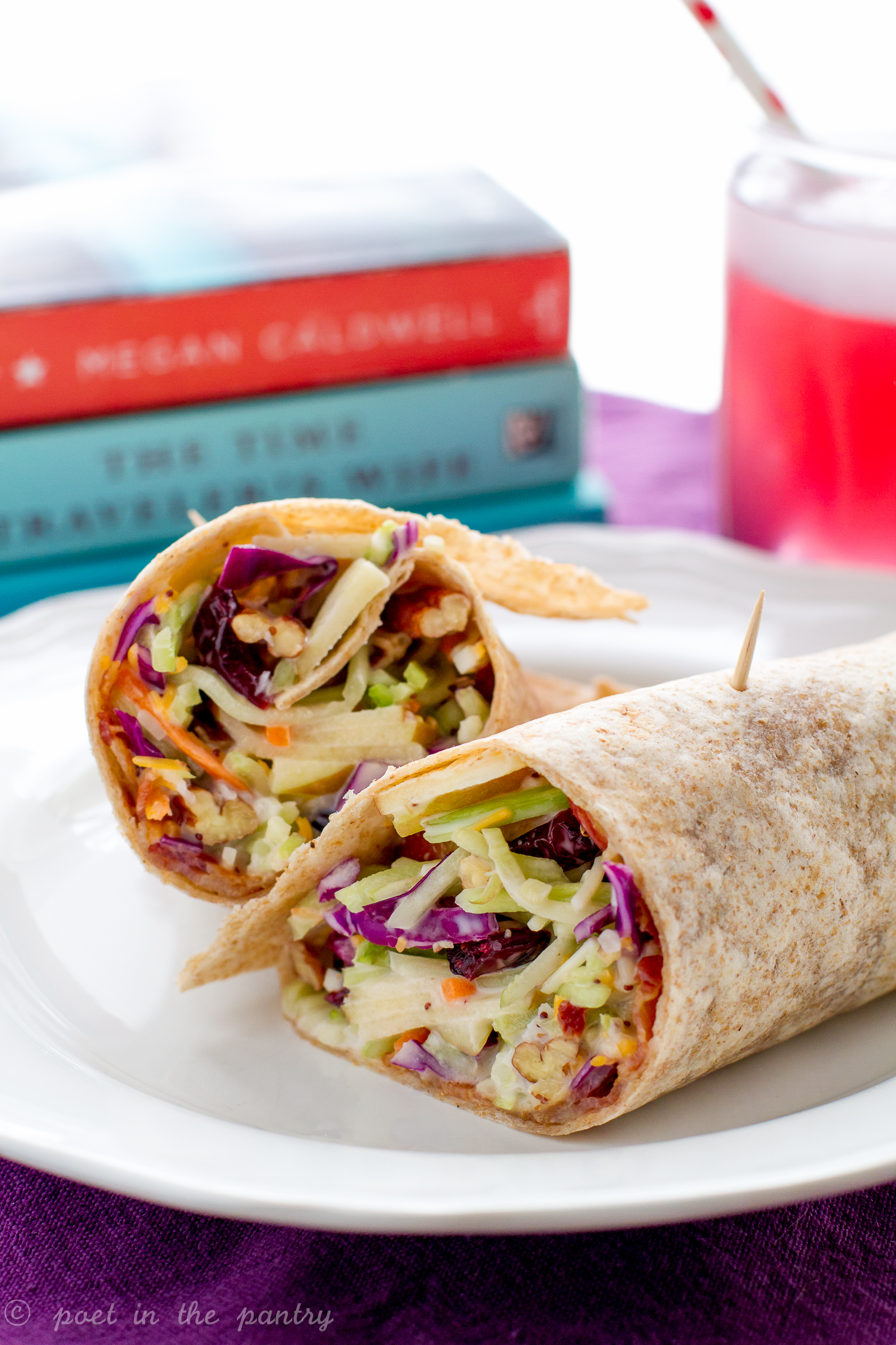 Take your broccoli salad on the go with broccoli salad wraps! Bye-bye boring lunches! - Poet in the Pantry