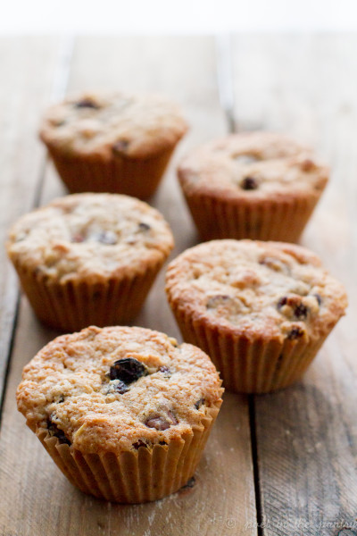 Candy Bar Muffins, featuring raisins, milk chocolate chips, and peanuts, encouraging you enjoy dessert for breakfast!