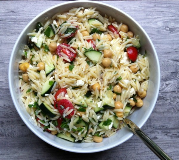 Summer Orzo Pasta Salad from A Cedar Spoon