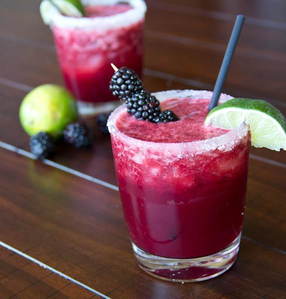 Skinny Blackberry Margaritas ~ Dinners, Dishes & Desserts