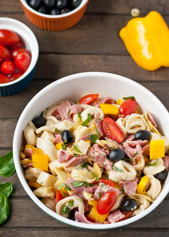 Antipasto Tortellini Salad from Neighbor Food