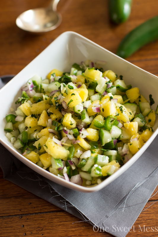 Pineapple Cucumber Salsa ~ One Sweet Mess