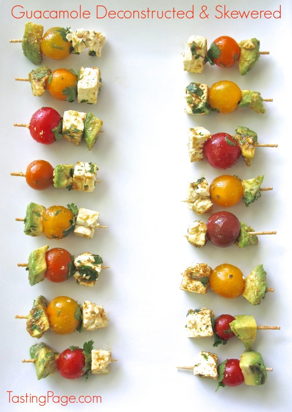 Guacamole Deconstructed & Skewered ~ Tasting Page